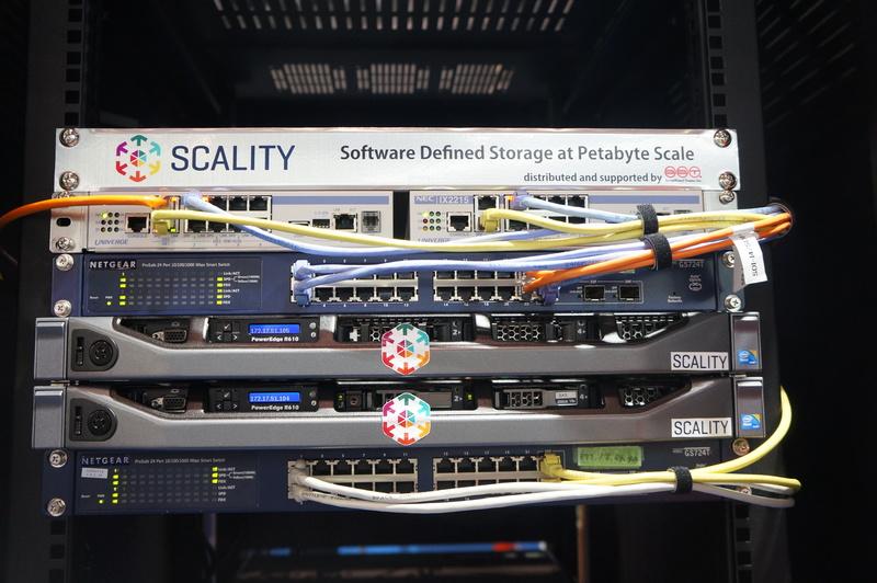SDI ShowCaseのラックで動くScality RINGのサーバー