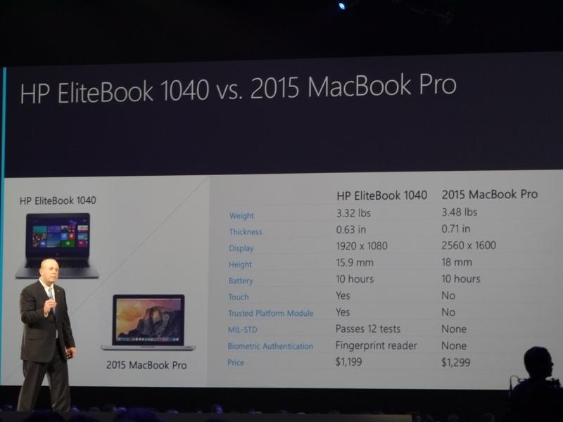 HP EliteBook 1040 vs MacBook Pro
