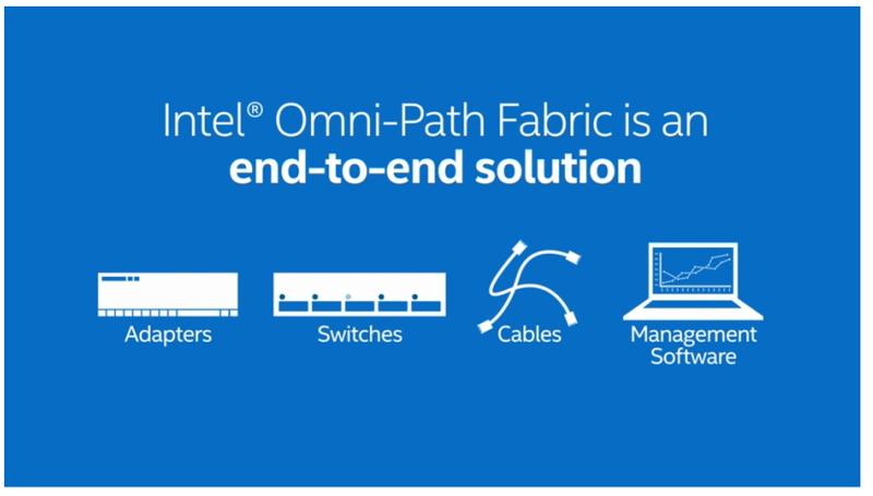 Intelでは、InfiniBandを改良したOmni-Pathを新しいファブリックとして採用する