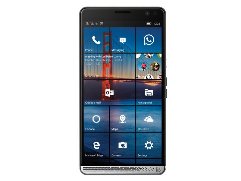 Elite x3は、スマートフォンとしては大型の5.96インチの画面を採用している。厳密にいえば、スマートフォンとタブレットの間のファブレットと言われるサイズだ