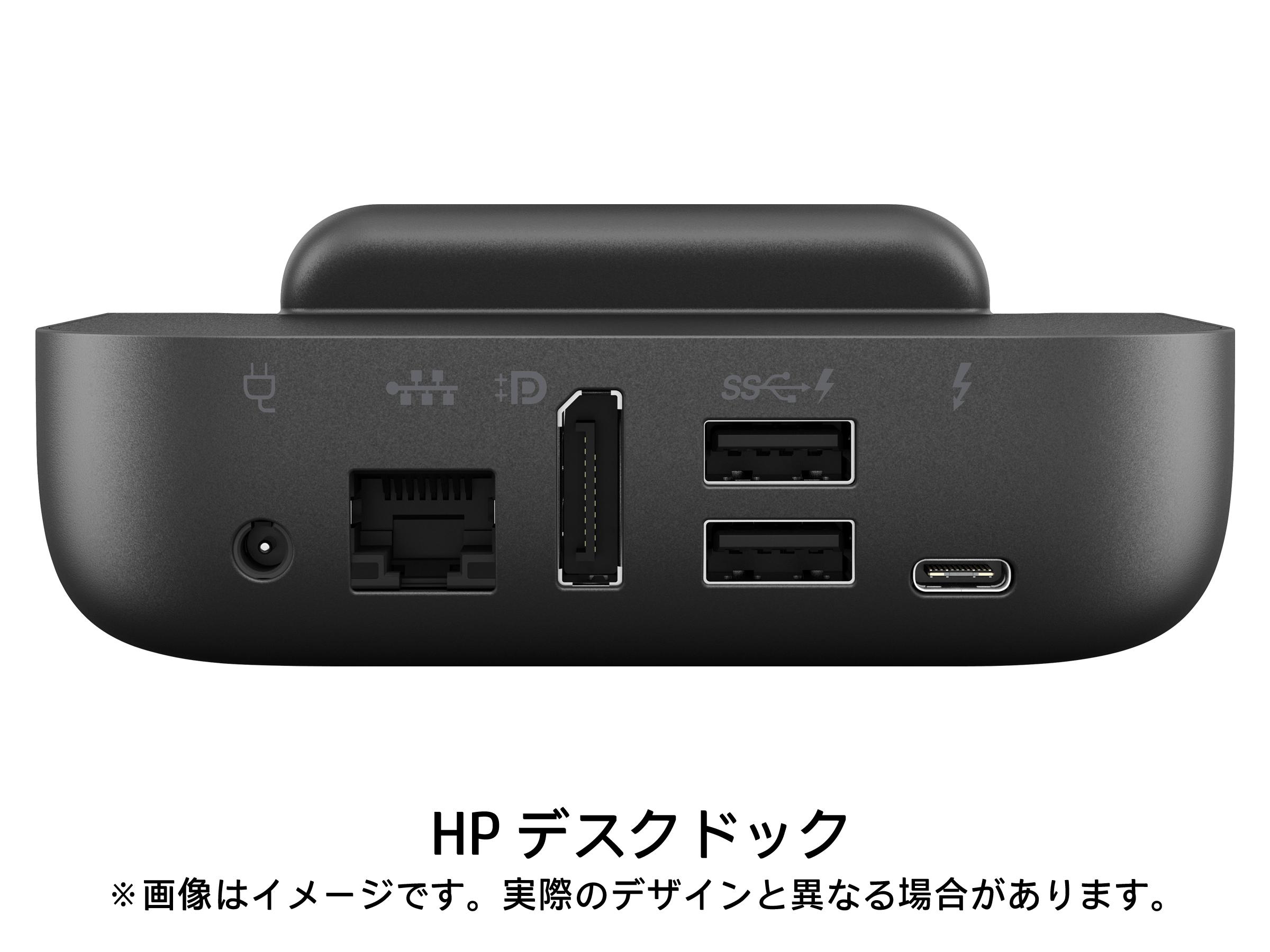 有線LAN、ディスプレイポート、USB端子だけでなく、ACアダプタ端子も用意されているので、Elite x3の充電スタンドとしても利用できる