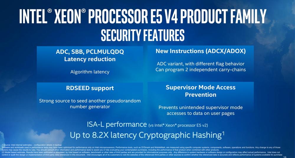 Xeon E5-2600 v4シリーズで追加された命令