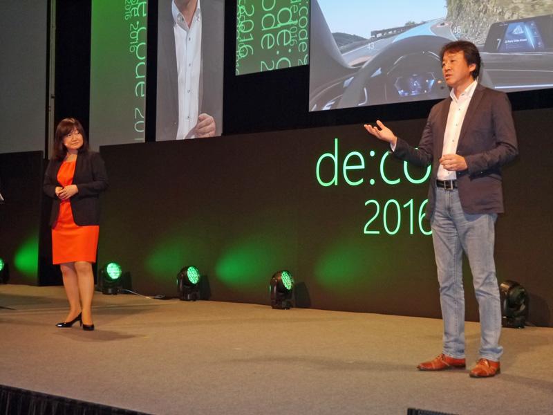 日本マイクロソフトの榊原彰執行役CTO(右)と、日本マイクロソフト デベロッパーエバンジェリズム統括本部長の伊藤かつら執行役