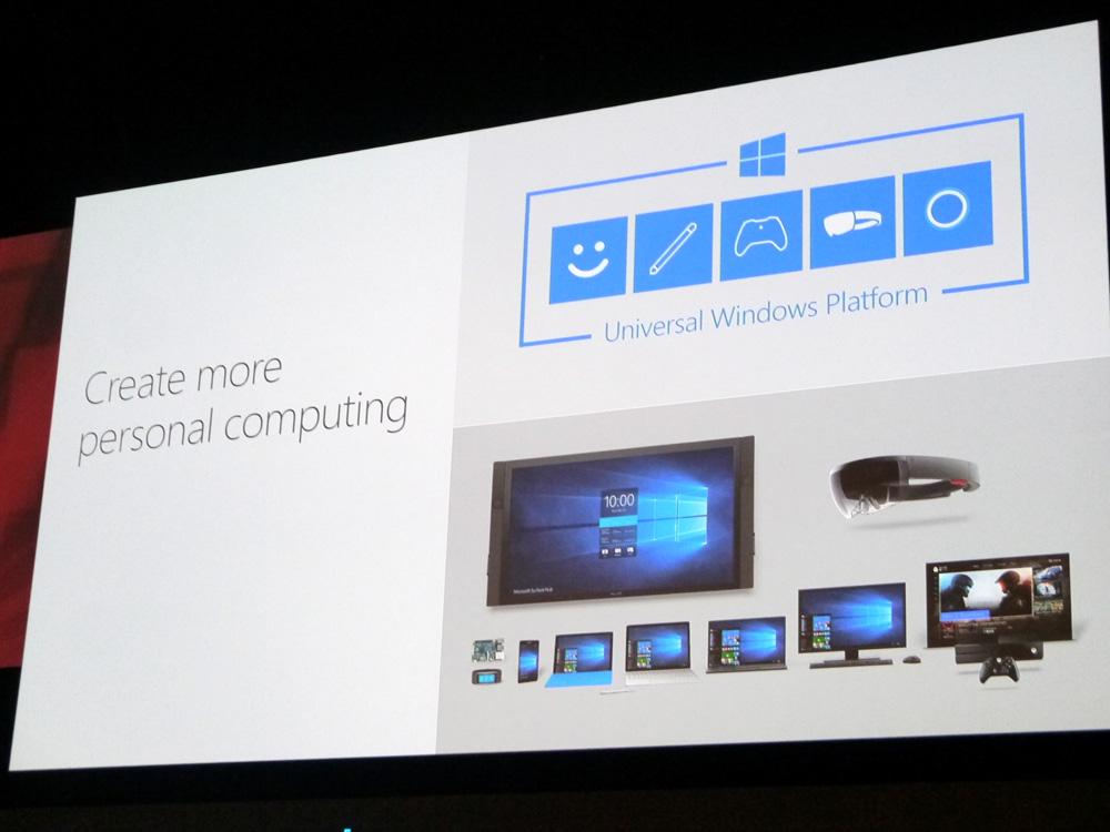 Windows 10をアピール