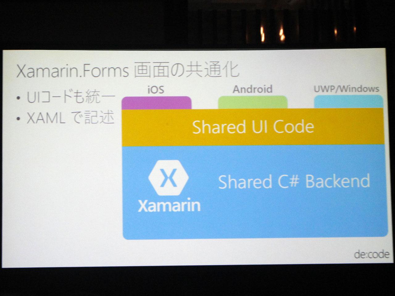 UI開発までを共有コードで開発できるXamarin.Forms