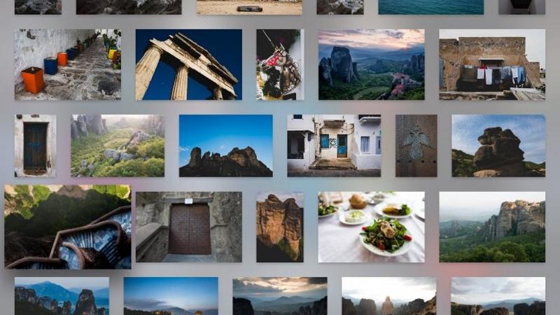 クリエイティブクラウドの全ての写真をスクロール表示可能