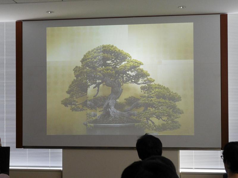 大和田良さんの作品。さいたま市大宮盆栽美術館の名作を撮影した
