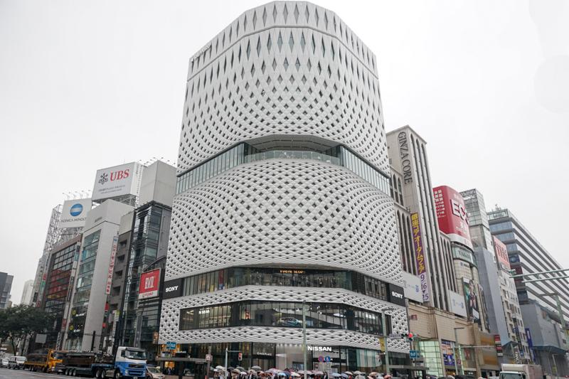 明日ソニーショールーム/ソニーストア銀座がオープンするGINZA PLACEビル