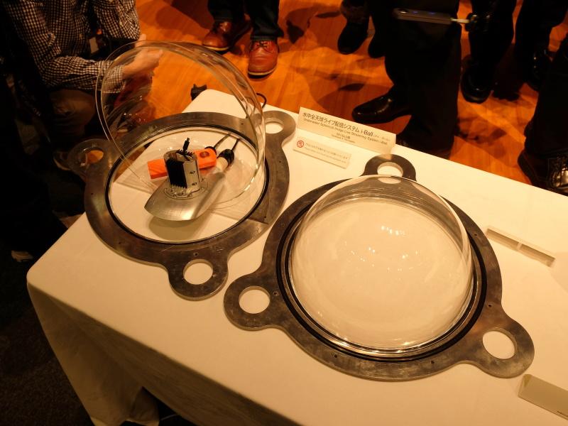 耐圧殻はアクリル半球とアルミ枠で構成