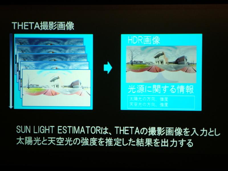 そのため、太陽光の中で影を使って光の方向と強さを推定する
