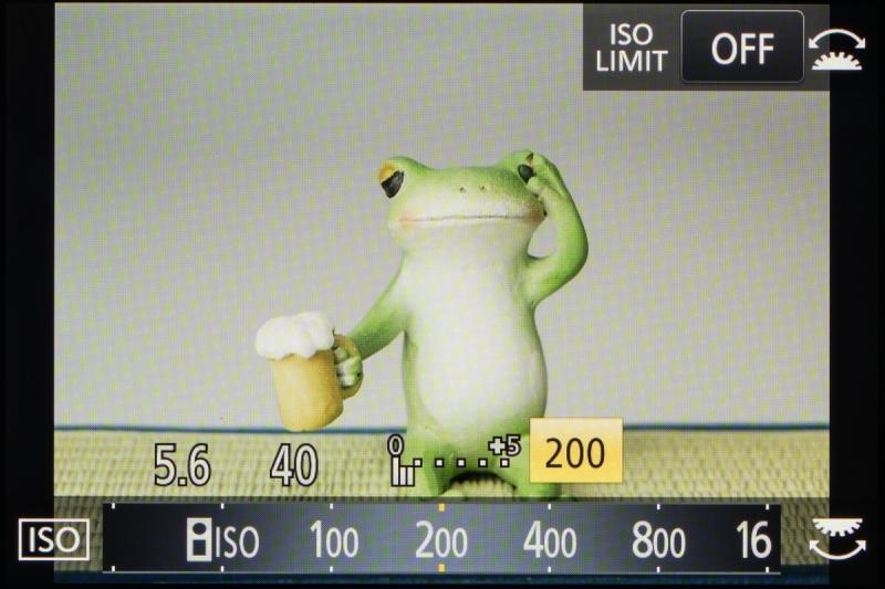 ISO感度はベース感度がISO200、最高でISO25600までだ。