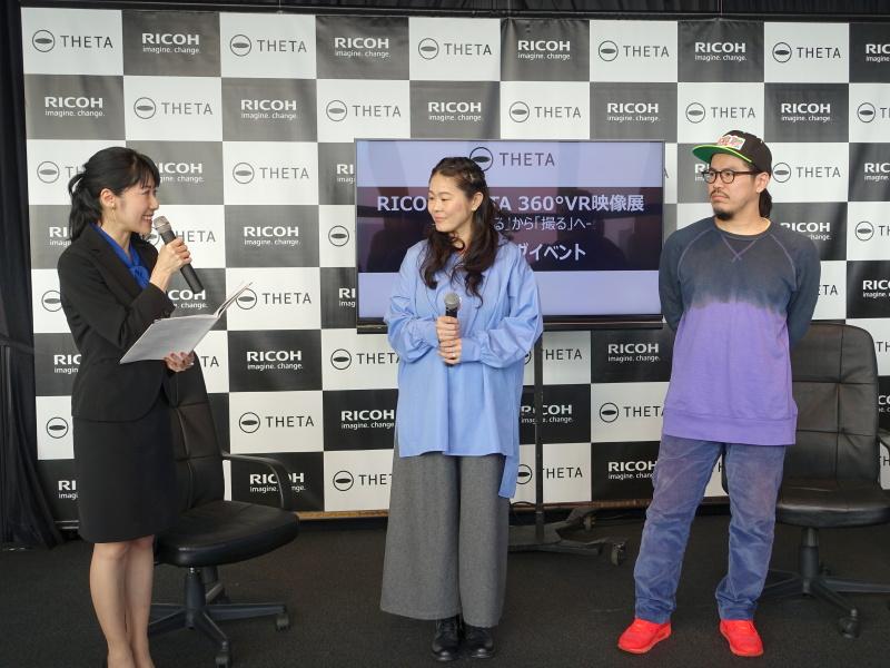 澤穂希さん(中央)、渡邊課 渡邊徹さん(右)