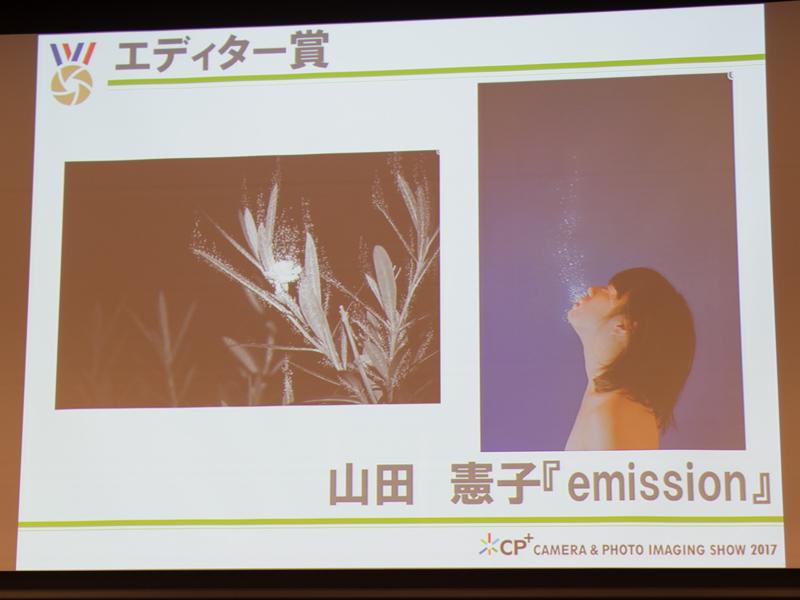 エディター賞を受賞した山田憲子さんの作品「emission」