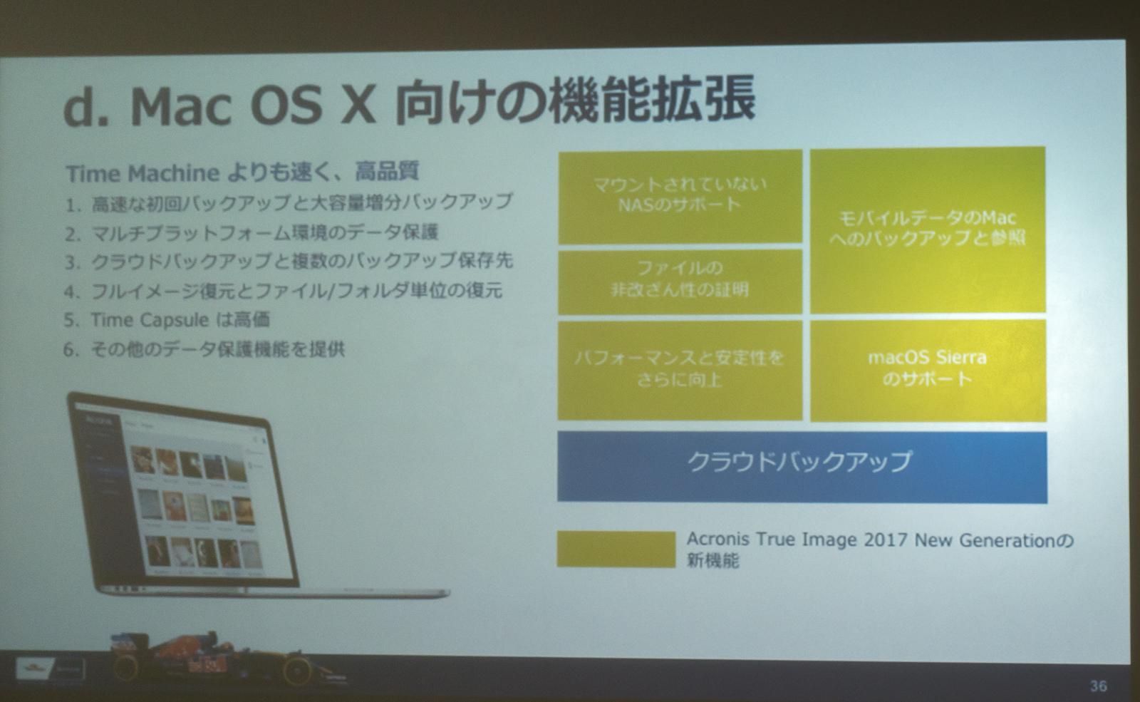 Mac向けの新機能