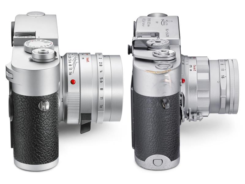 サイズ感のイメージ。左からライカM10(2017年)、ライカM4(1967年)
