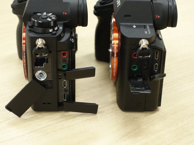 左はα9、右はα7R II
