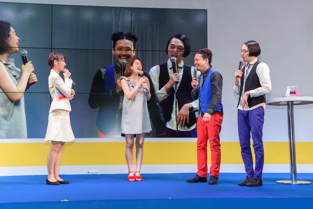 イベントはピスタチオのお二人のトークでハイテンションにスタート。筧さんの登壇で一層の盛り上がりを見せた。