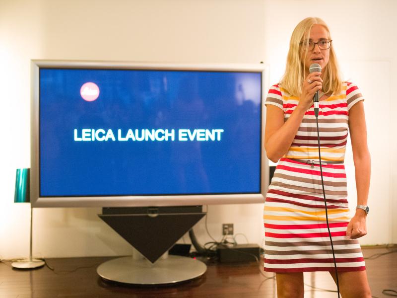 ライカTL2製品担当者のマイケ・ハルベルツさん。7月21日の製品発表イベントにて