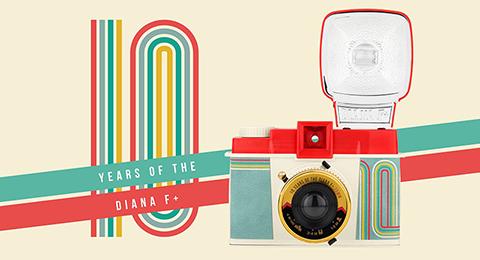 ロモグラフィー、中判カメラ「Diana F+」の10周年記念モデルを発売