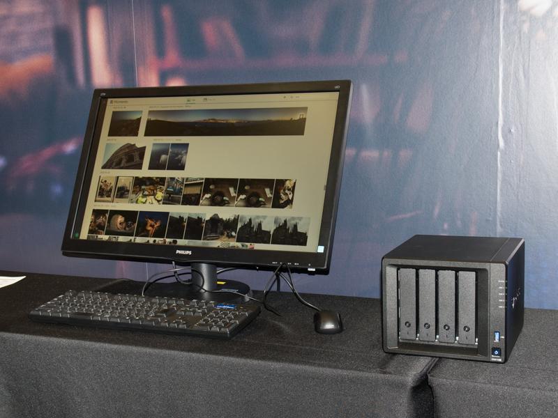 NAS製品については「Moments」など提供前の新機能を試すことができた。