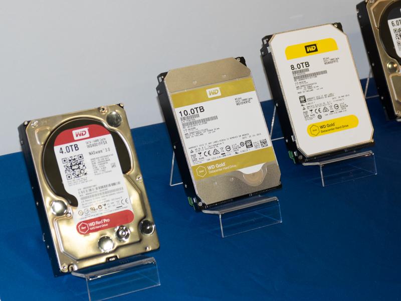 Western DigitalのNAS向けHDD「WD Red」と「WD Gold」。