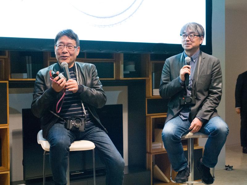 イベントではハービー・山口さんと小山薫堂さんも登壇。ライカCLを試した印象を「APS-Cだが十分なクオリティがある」(小山さん)、「新しいレンズなのに、描写が硬すぎず好ましい」(ハービーさん)と評価。