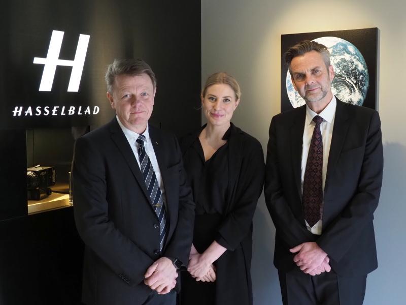 左からプロダクトマネージャーのOve Bengtsson氏、トレードマーケティングマネージャーのCharlotte Peterzéns氏、クライアントリレーションマネージャーのHans Cornet氏。
