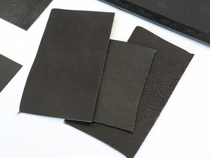 パターン検討の基となる革素材。