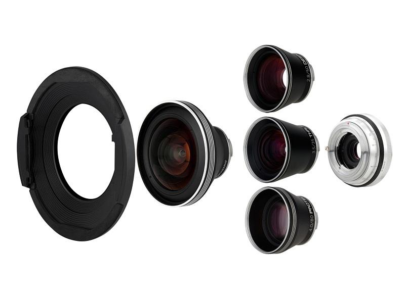 Naiad 3.8/15 Art Lens + 3種類のフロントレンズ + Neptune Convertible Lens Base(税込12万9,800円)