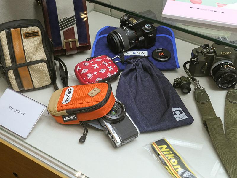 様々なカメラポーチ。