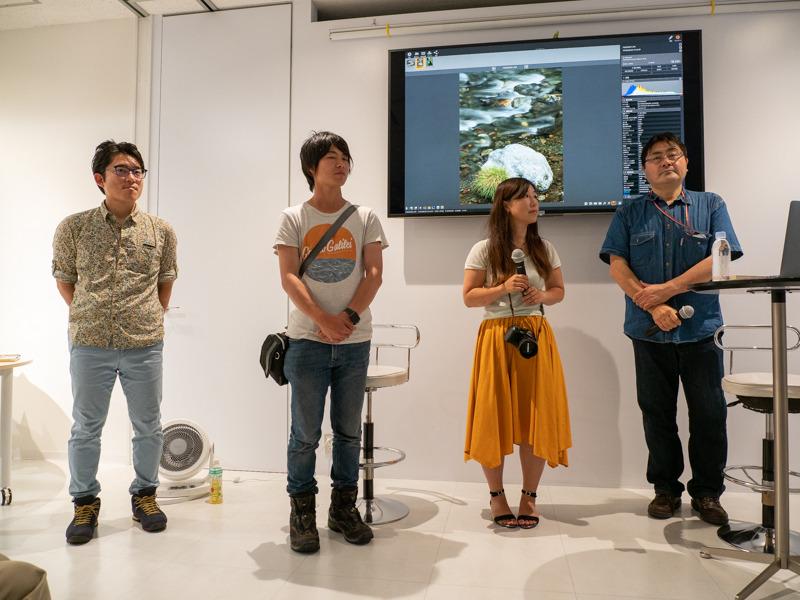 左から今浦友喜さん、木村琢磨さん、吉住志穂さん、萩原史郎さん。