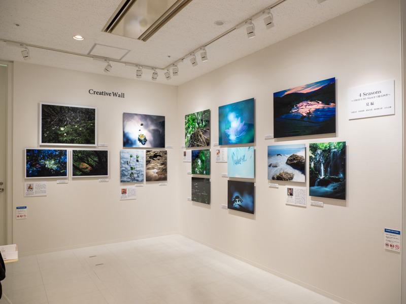 オリンパスプラザ東京での展示の様子。