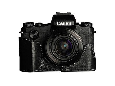 TP Original Canon PowerShot G1 X Mark III 用 ボディーハーフケース ブラック