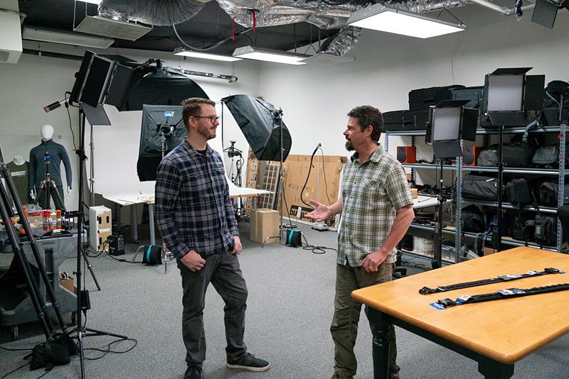 社内のスタジオ。ここで製品写真や紹介ビデオを撮影している。