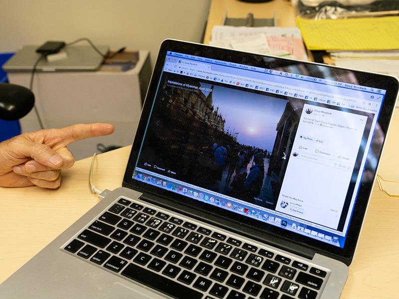 Dougさん自ら写真を撮り、Facebookにフォトエッセイとして公開している。