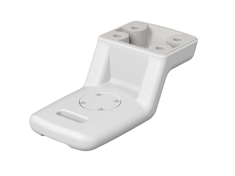 サービスセンターでの交換作業により、一脚座向けのパーツに変更できる。