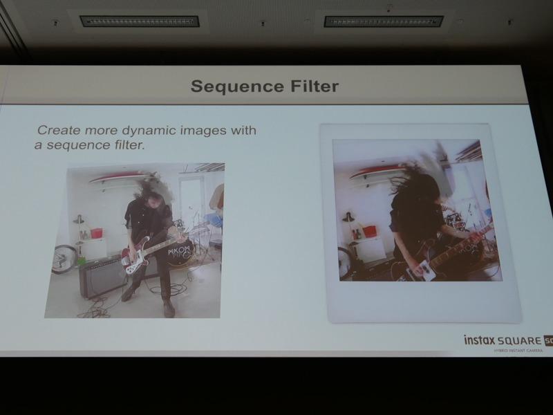 よりダイナミックな写真が得られるという「シーケンスフィルター」