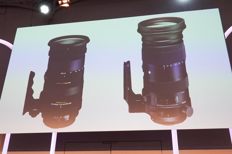 50-500mmとの外観比較。