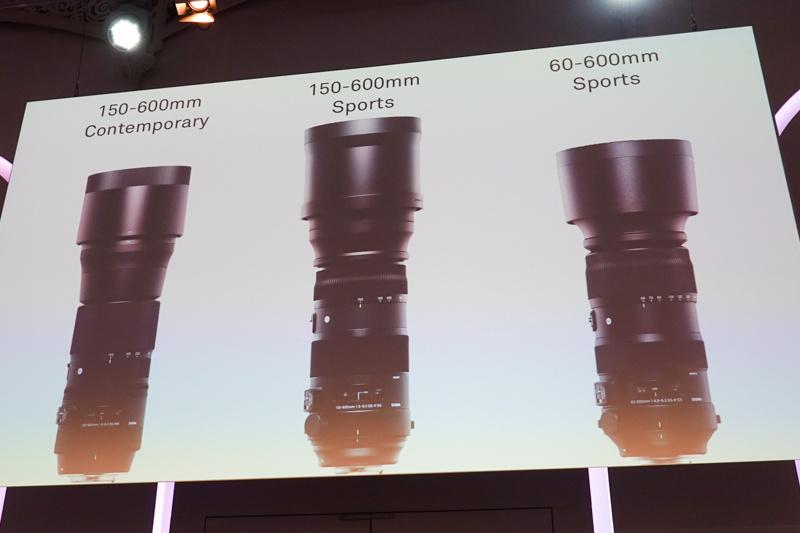 150-600mmとの外観比較。