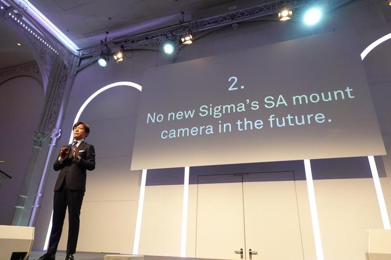 今後、シグマSAマウントのカメラ新機種は出ない。