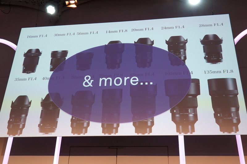 既存レンズのLマウント化に加え、新規のレンズも予定。
