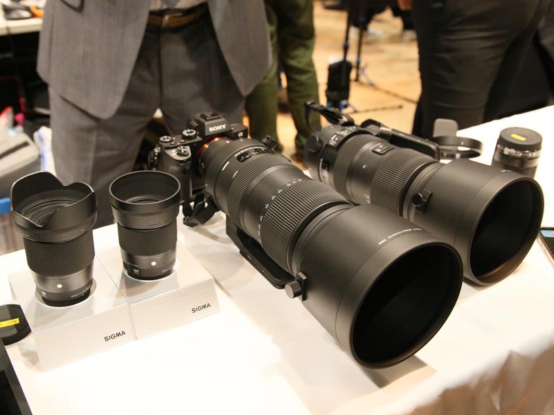 左から3本目が60-600mm F4.5-6.3 DG OS HSM。