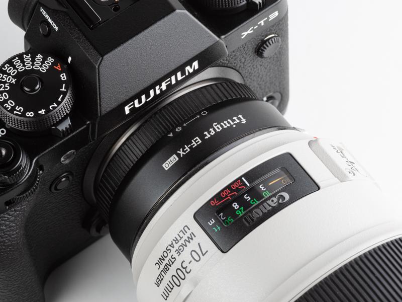 IS付きのキヤノン製レンズは、本製品を経由しても手ブレ補正機能が動作する。
