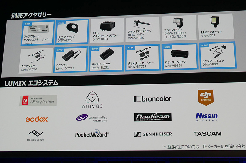 LUMIXエコシステムとして、多くのブランドでLUMIX Sシリーズアクセサリーが検討されている。期待してほしいと山根氏は語る。