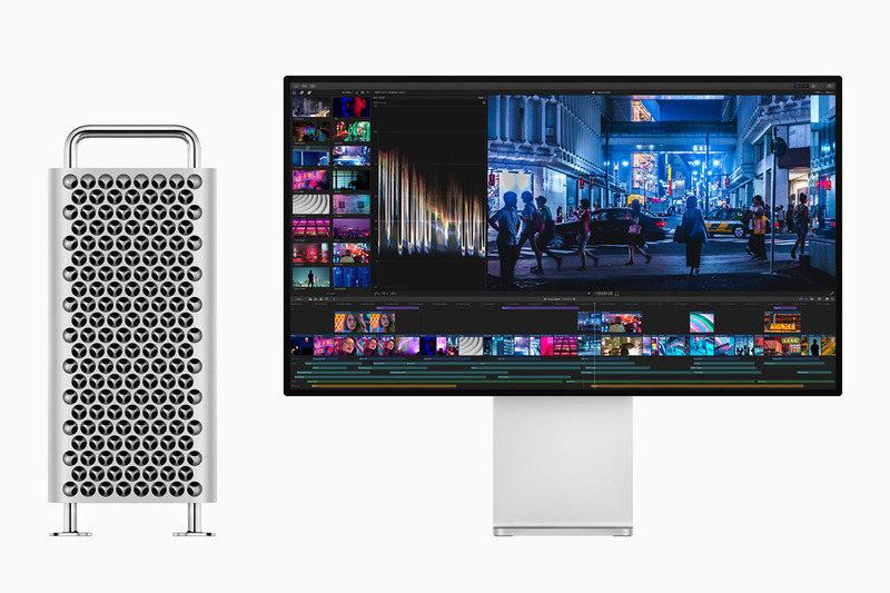 左は同時発表の新しいMac Pro。
