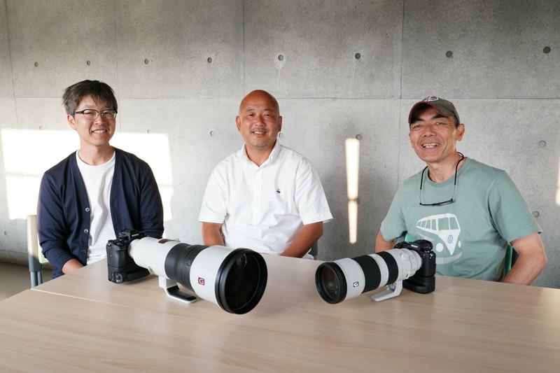 プロスポーツ写真家のみなさん。左から小川和行さん、奥井隆史さん、赤木真二さん。