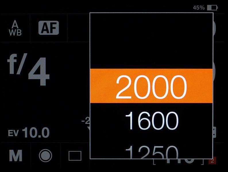 レンズシャッターの最高速は1/2,000秒。