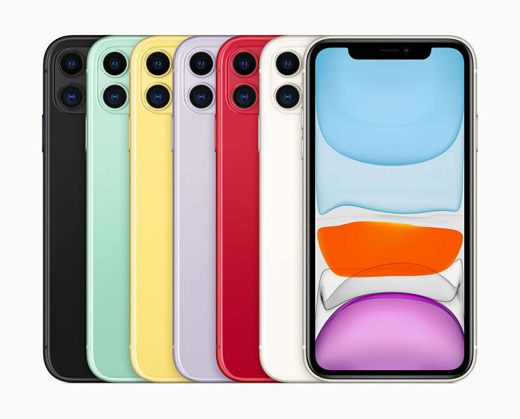 iPhone 11の本体カラーは6種類。