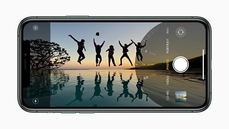 iPhone 11 Proの撮影画面。