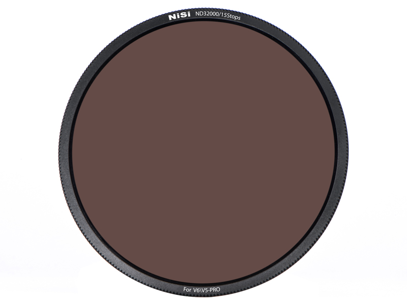 円形フィルター(写真はND32000)